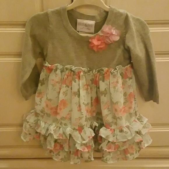 NEXT Gorgeous Little Pink Dress Size 3-6 Months NWT